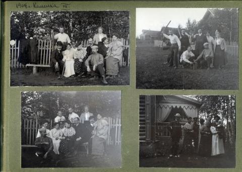Страница из семейного фотоальбома Кноблоков