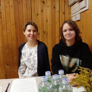 Докладчики на семинаре: А.С. Акимова и М.С. Акимова