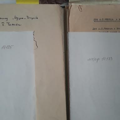 Архив усадьбы Мелихово. Документы