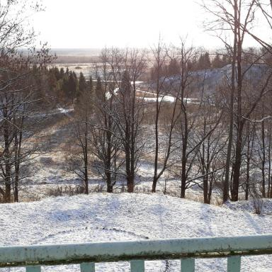 Вид с балкона дома в Усадище
