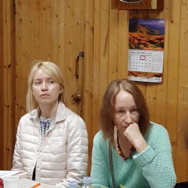 Докладчики на семинаре: Е.В. Наседкина и Л.К. Ражина